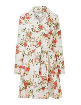 Printed Fit And Flare Raincoat by Simply Be