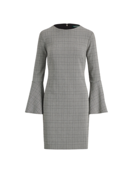 Glen Plaid Bell Sleeve Dress by Ralph Lauren
