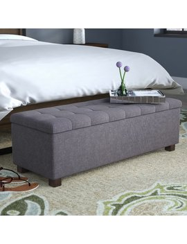 Latitude Run Kareem Upholstered Storage Bench & Reviews by Latitude Run