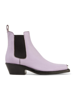 Claire Metal Trimmed Textured Leather Ankle Boots by Calvin Klein 205 W39 Nyc