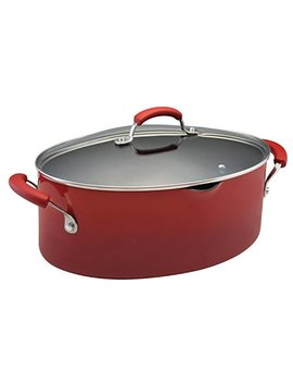 Rachael Ray Classic Brights Hard Enamel Nonstick 8 Quart Covered Pasta Etc. Pot, Red Gradient by Rachael Ray