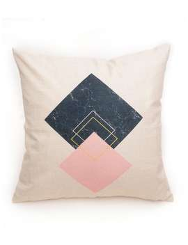 Geometric Pattern Pillowcase by Romwe