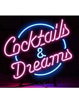 Real Glass Neon Light Sign Cocktails And Dreams For Beer Bar Pub Store Club Garage Home Party Light Sign 17x14 Inches Neon Lamp With Fast Shipping by Hong Ba