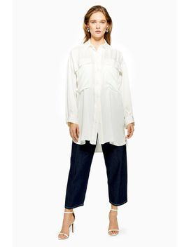 **Silk Oversized Shirt Dress By Boutique by Topshop