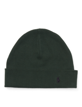 Waffle Knit Cotton Hat by Ralph Lauren