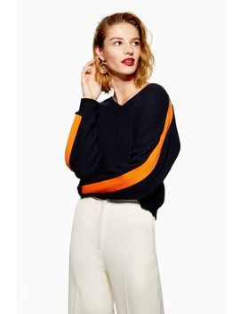 V Contrast Jumper With Cashmere by Topshop