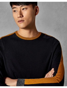 Striped Crew Neck Jumper by Ted Baker