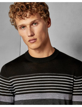 Striped Wool Jumper by Ted Baker
