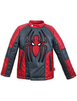 Spider Man Faux Leather Jacket For Kids by Disney