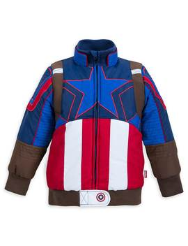 Captain America Puffy Jacket For Kids by Disney