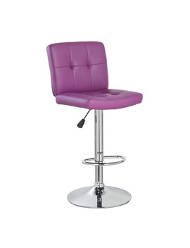 cushioned-upholstery-adjustable-height-swivel-barstool-with-chrome-base by generic