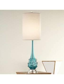 Possini Euro Dinah Blue Art Glass Table Lamp by Lamps Plus