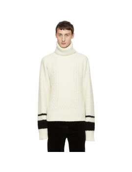 White Borago Turtleneck by Haider Ackermann