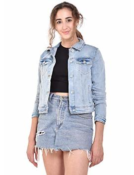 Mansi Collections Full Sleeve Blue Trucker Denim Jacket For Women by Mansi Collections