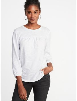 Relaxed Shirred Yoke Top For Women by Old Navy