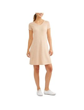 Women's V Neck Short Sleeve Super Soft Cozy Dress by Concepts