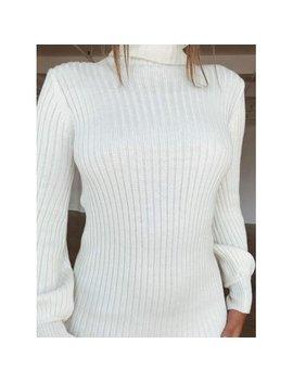 Jlong 1 Pcs Women High Collar Bodycon Knitted Sweater Dress Ladies Long Sleeve Short Dress by Jlong
