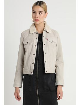 The Suede Sherpa Trucker   Leather Jacket by Levi's®