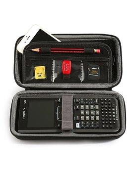 Lucky Nv Portable Protective Box Case For Texas Instruments Ti Nspire Cx/Cas Graphing Calculator & Mesh Pocket And Extra Room For Memory Card And Pen And Accessories by Amazon