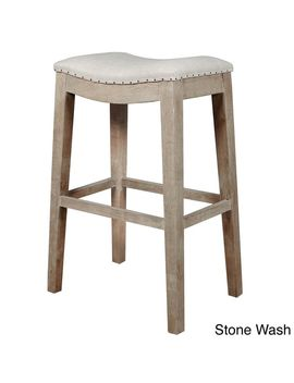 The Gray Barn Foxtail French Linen Barstool by The Gray Barn