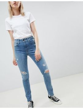 Levi's 721 High Rise Skinny Jean With Abrasions by Levi's