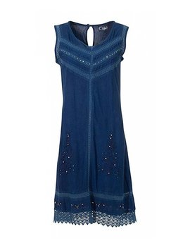 Jean Embroidered Sleeveless Dress   Women & Plus by Zulily