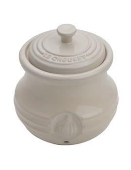 Le Creuset Stoneware Garlic Pot, Almond by Le Creuset