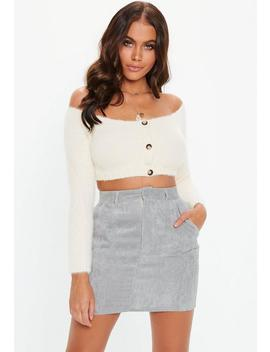 Grey Cord Mini Skirt by Missguided