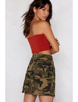 Bite The Bullet Camo Skirt by Nasty Gal