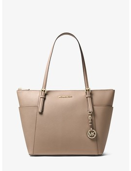 Jet Set Large Saffiano Leather Top Zip Tote by Michael Michael Kors