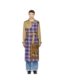 Tan & Check Trench Coat by Loewe