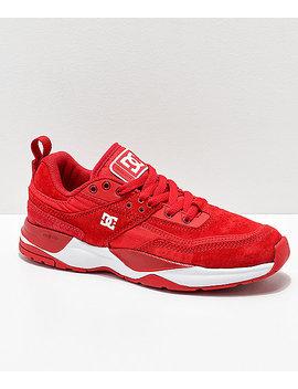 Dc E. Tribeka Red & White Shoes by Dc