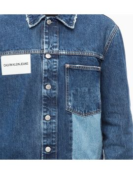Ckjeans Patched Trucker Denim Jacket by Calvin Klein