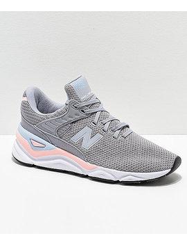 New Balance X 90 Arctic Sky & Himalayan Pink Shoes by New Balance