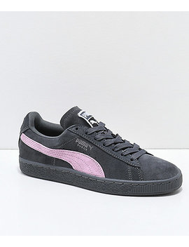 Puma Suede Classic+ Iron Gate & Orchid Pink Shoes by Puma