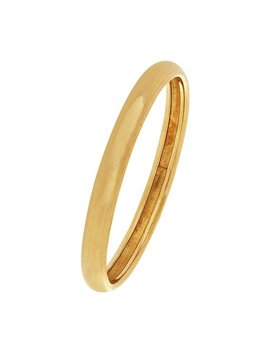 Revere 9ct Gold Rolled Edge D Shape Wedding Ring   2mm by Argos
