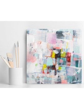 Abstract Painting, Acrylic Painting, Wall Decor, Home Decor, Wall Art, Abstract Art, Colorful Painting, Canvas Painting 16x16, Gitf For Her by Etsy