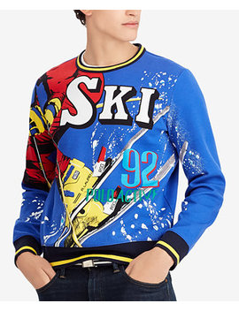 Downhill Skier Men's Double Knit Sweatshirt by Polo Ralph Lauren