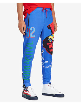 Downhill Skier Men's Double Knit Tech Athletic Pants by Polo Ralph Lauren