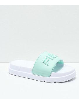 Fila Drifter Bold Green & White Slide Sandals by Fila