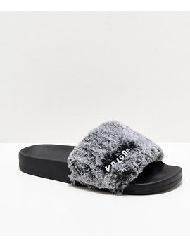 Volcom Lil Slide Heather Grey Slide Sandals by Volcom