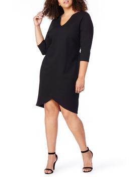 V Neck Fitted Dress by Rebel Wilson X Angels