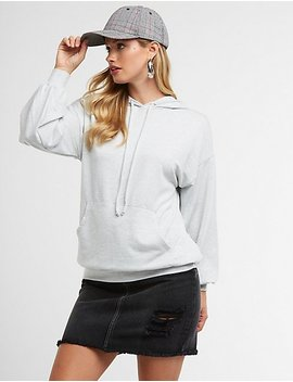 Tunic Pullover Hoodie by Charlotte Russe