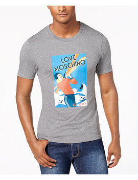 Men's Ski Graphic T Shirt by Love Moschino