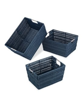Whitmor, Inc Rattique 3 Piece Basket Set & Reviews by Whitmor, Inc