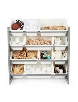 Tot Tutors Toy Organizer In Grey/White by Bed Bath And Beyond