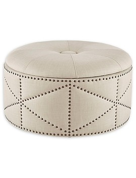 Madison Park Sonya Cocktail Storage Ottoman In Natural by Bed Bath And Beyond