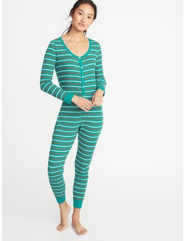 Patterned Thermal Knit One Piece P Js For Women by Old Navy