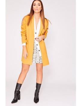 Malikia Mustard Boyfriend Blazer Jacket by In The Style