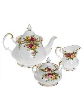 Royal Albert Old Country Roses 3 Piece Tea Set by Royal Albert